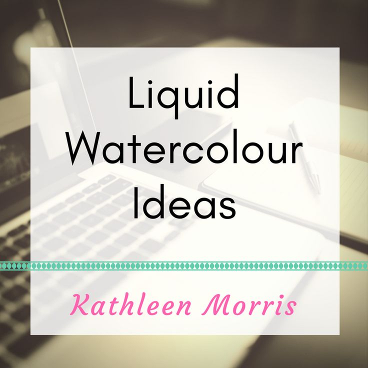 Arty ideas to use liquid watercolours with young children