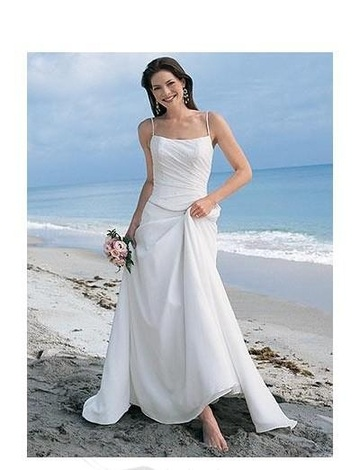 A-Line Princess Spaghetti Chapel Train  wedding dress (WS2112)...love this