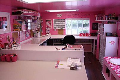 OMG - I wish I could have this much counter/table space. Love it