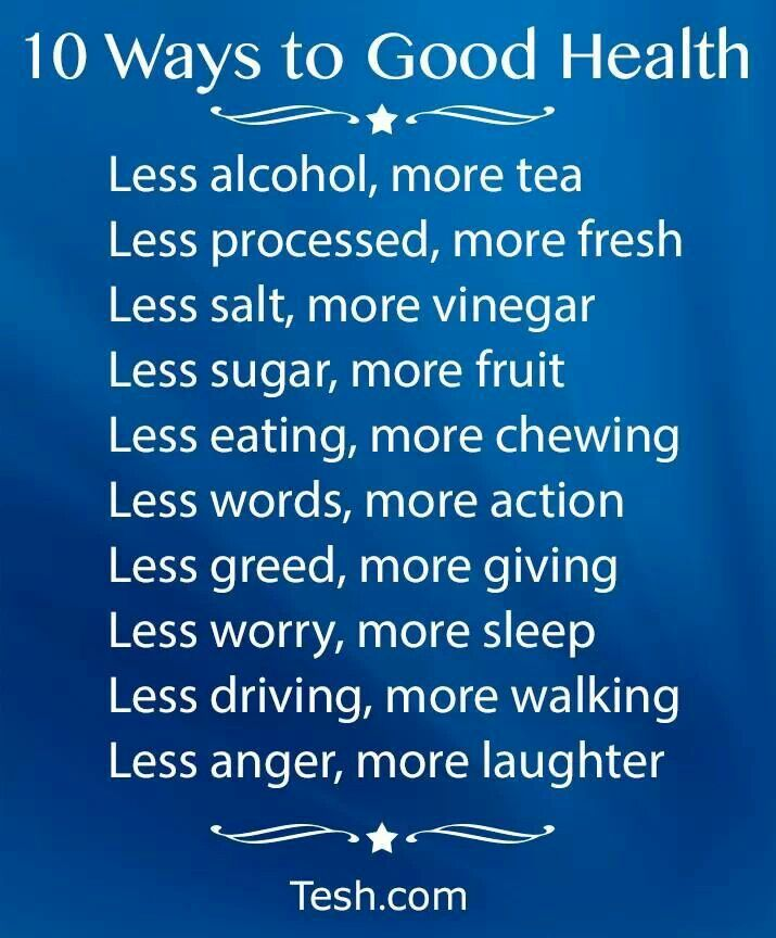 10 ways to good health by john tesh things that can