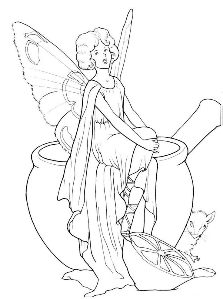 fairies coloring book page printable - Fairies Coloring Book