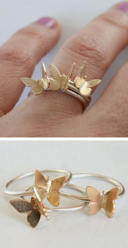 Flying Butterfly Stacking Rings ♥