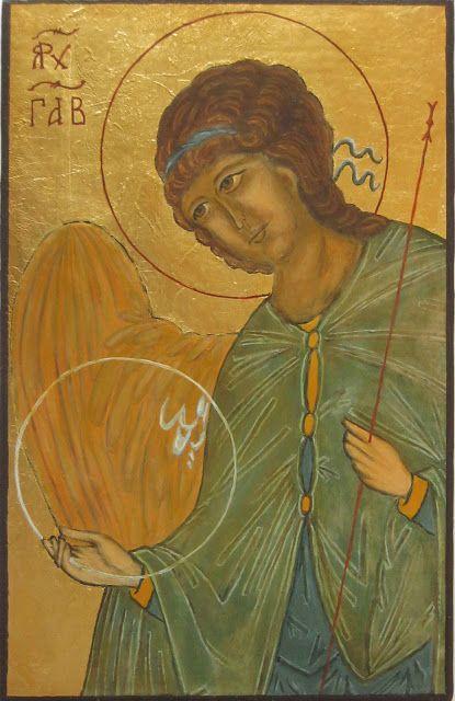 Icon Archangel Gabriel - egg tempera on board