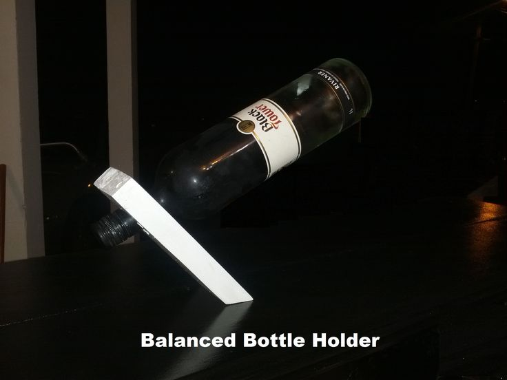 Balanced Bottle Holder made from scrap pieces of wood