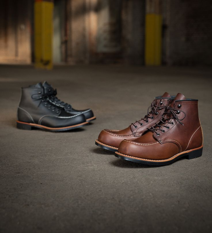 Launching today, the Cooper, named for the woodworkers who build barrels and casks, takes the Red Wing Moc Toe and adds a Virbram 430 Mini-Lug sole. Quite versatile, this sole combines the refined appearance of a lower profile and the confidence of added traction. A Goodyear welt and leather from our S. B. Foot Tannery mean these Red Wing boots are durable and resoleable. Available in Amber Portage (2954) and Black Harness (2964) leather, the Cooper is the iconic Moc Toe, reimagined.