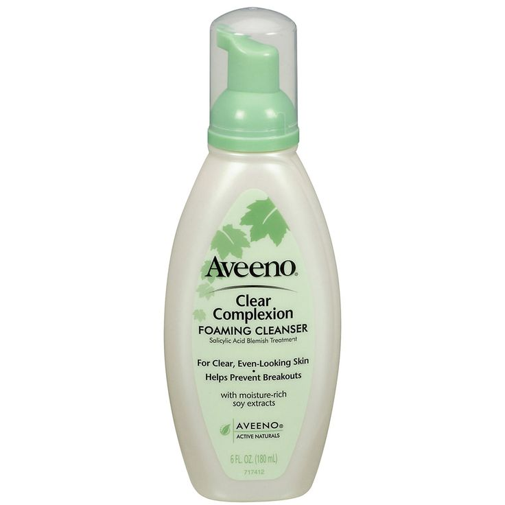Aveeno Clear Complexion Foaming Cleanser - I just love this stuff - it foams up and STAYS foamy on your face - gentle but great for oily skin!