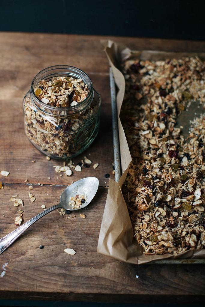 Poppy Seed, Pistachio and Pecan Granola in a mason jar