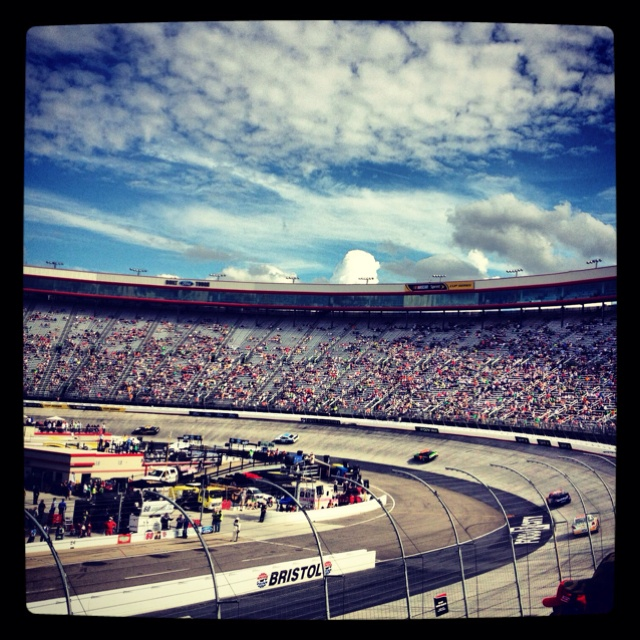 Bristol Motor Speedway in Bristol, TN - I had 2 season tickets for 4 years till my son went to college in 1994. lol