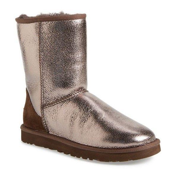 ugg classic short metallic silver sneakers rh weddingbandsbyignacio com