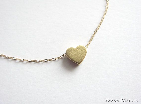 14k gold filled chain love necklace / heart necklace - simple jewelry - daily wear jewelry
