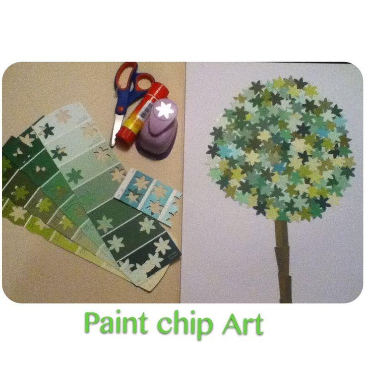 Paint chip Art DIY