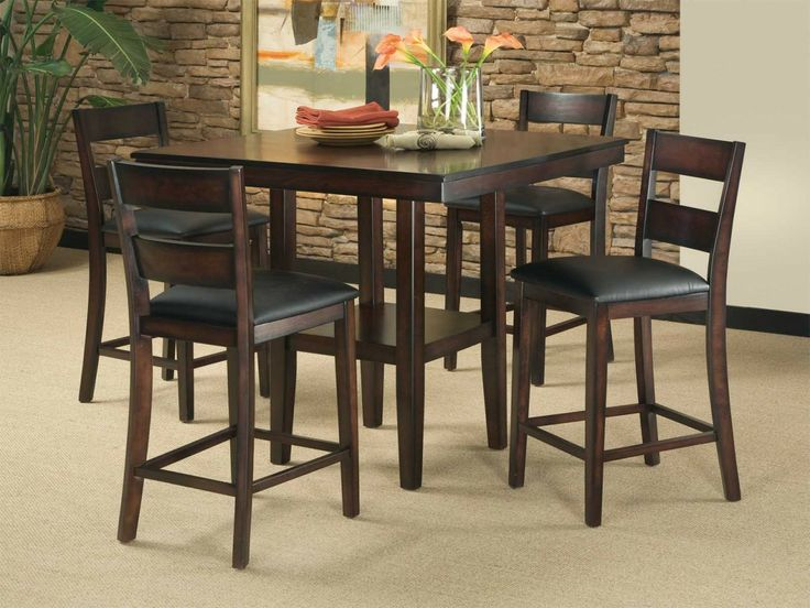 standard furniture pendleton counter height table w4 stools in dark cherry 40 x - Counter Height Table And Chairs