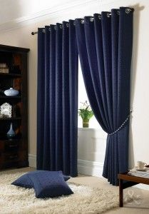 Some Recommended Panels for Your Navy Curtains: Cozy Design Navy Curtains ~  Design Inspiration