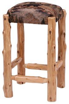 'Timberline' Upholstered Log Stool