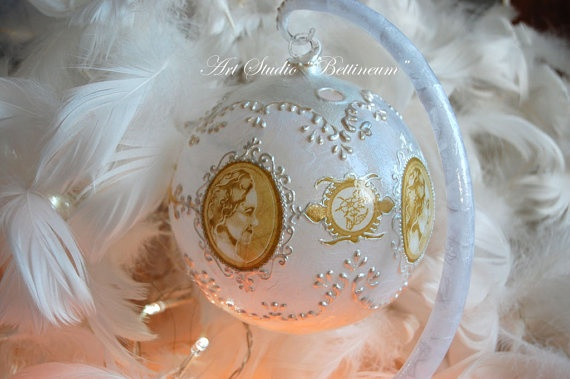 Lantern Glass Ornament by Bettineum on Etsy, $40.00