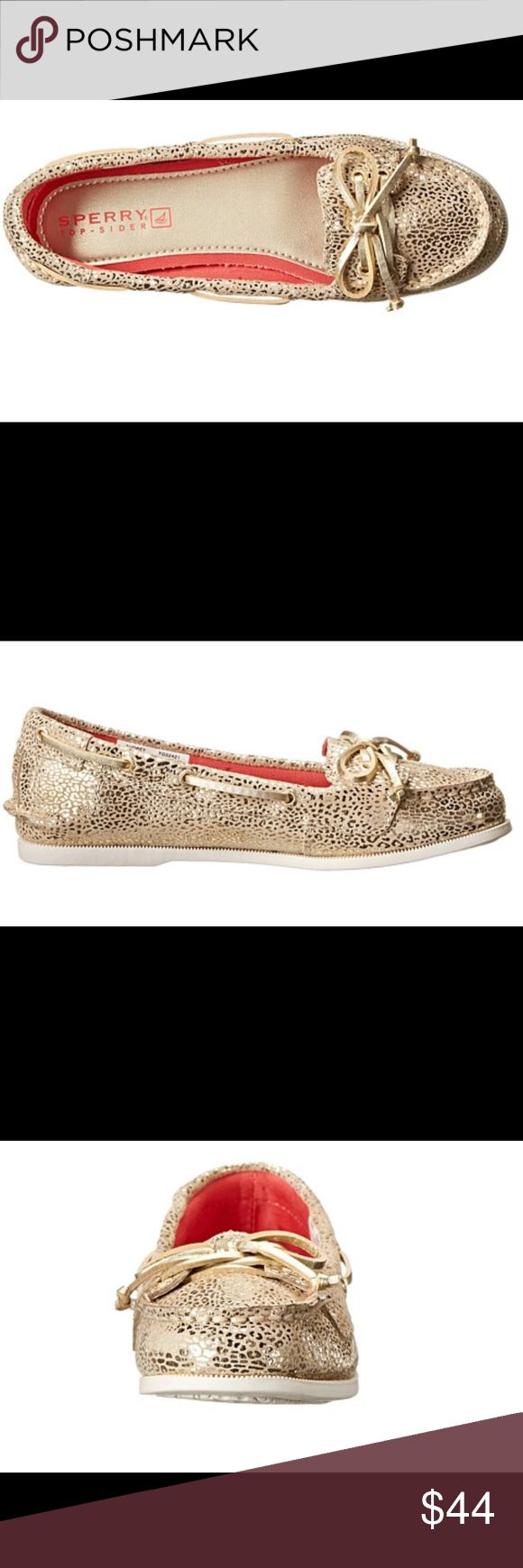 Authentic Sperry Top Sider Kid Lounge/Boat Shoes Brand New and super affordable Authentic Sperry Top-Sider Kids Audrey (Little Kid/Big Kid) Champagne Leopard Shoes. These shoes are great for boating, sailing, golfing, beach wear, land wear, and a whole lot more! You cannot go wrong adding these shoes to your wardrobe. They are so comfortable and can be worn for long periods of time.  B19 Sperry Shoes Moccasins