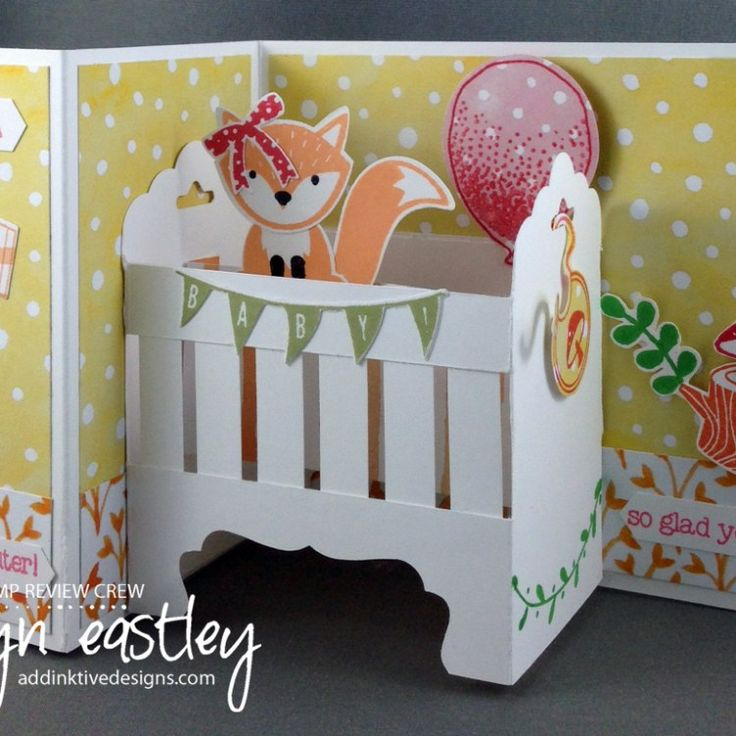 PDF Tutorial for a Baby Crib Z-Fold Card now available to purchase - $3.50 (AUD) addinktivedesigns.com