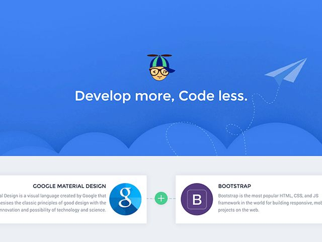 Propeller is a responsive CSS framework that combines Google Material Design and Bootstrap components into a new library.
