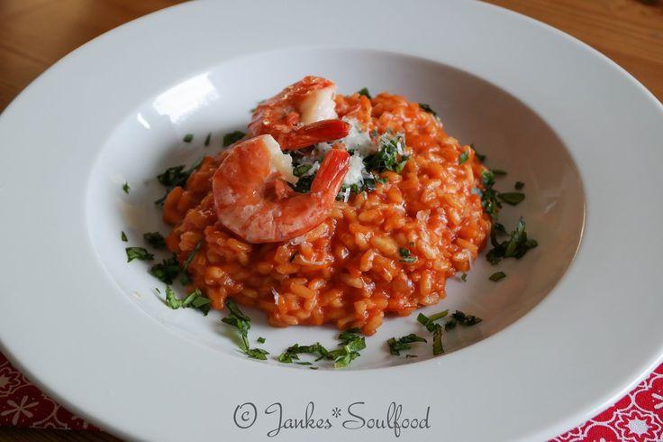 Tomaten Risotto mit Basilikum