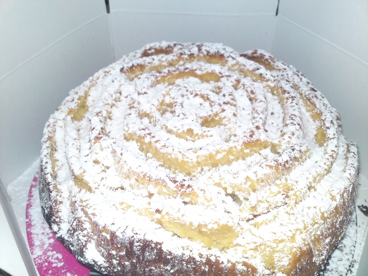 cake filled with nutella and sprinkled with icing sugar!!