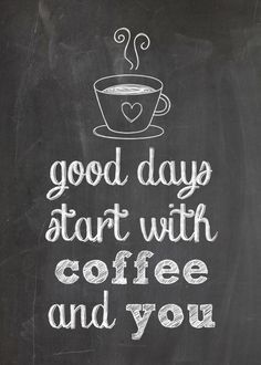 Good days start with coffee and you! -- See even more great recipes and cooking stuff at http://www.reviewcompareit.com/ksry
