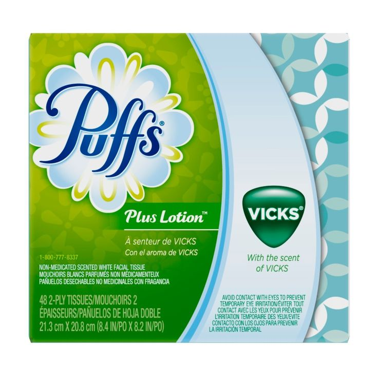 Puffs Plus Lotion Vicks Scented Facial Tissue - 48ct