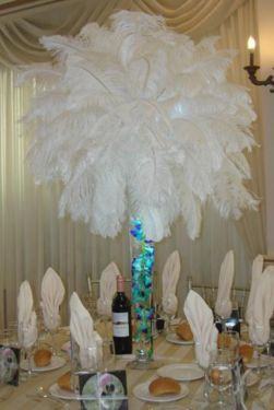 Peacock theme centerpieces peacock themed wedding peacock theme