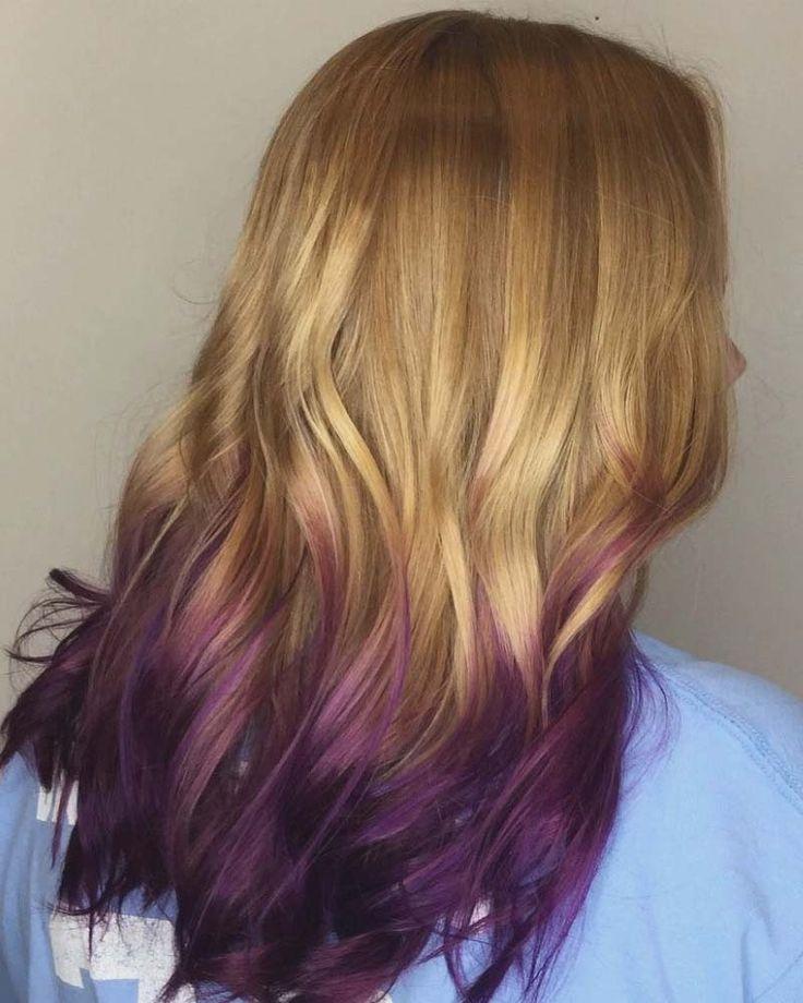 Dark Plum Hair Color Unique Strawberry Blonde To Rich Violet Plum Hair Dyed Blonde Hair Purple Hair Tips