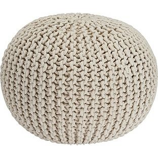 Buy Heart of House Cotton Knitted Pod - Natural at Argos.co.uk - Your Online Shop for Footstools.