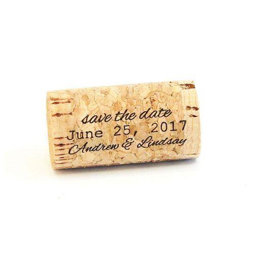 Cork Wedding Invitations: Whole Wine Cork - Save The Date - 3 In 2019