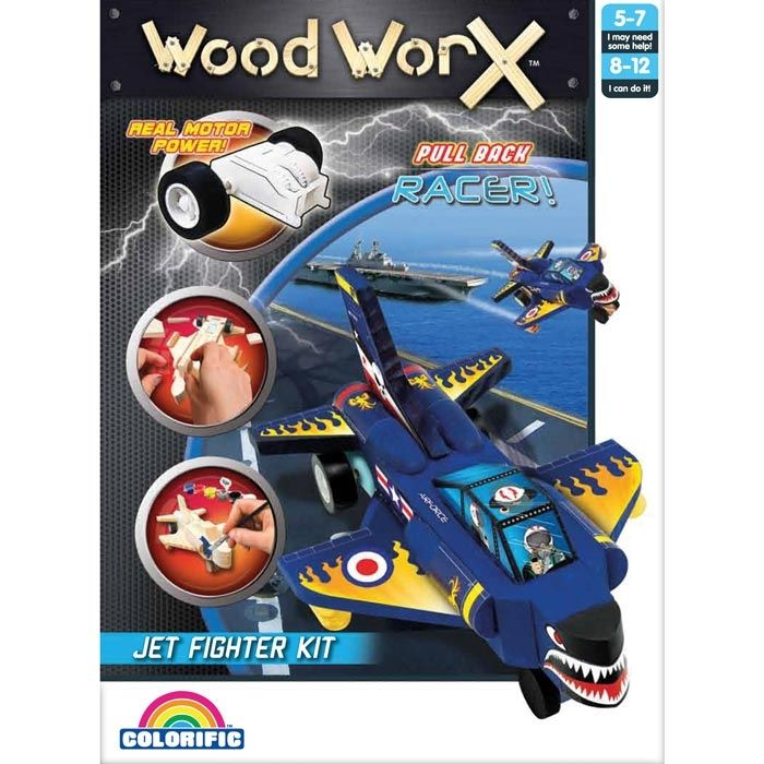 Woodworx Pull Back Jet Fighter