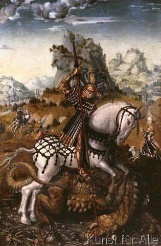 Lucas Cranach der Ältere - Der Heilige Georg (46,0 x 70,0 cm)