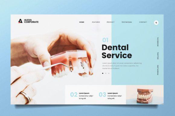 Dental Clinic Web Header Psd And Ai Graphic By Alexacrib83 Creative Fabrica Dental Website Dental Clinic Medical Website Design