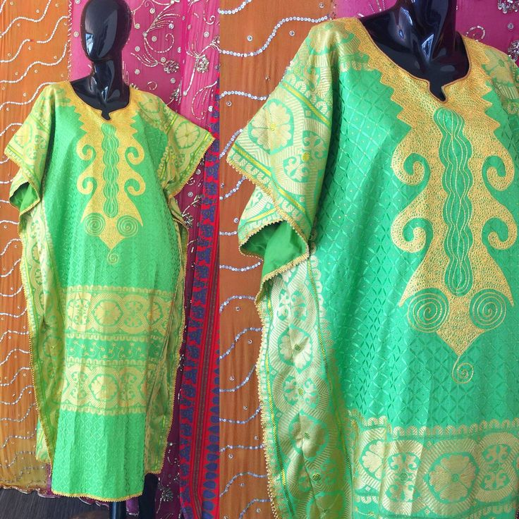 PASTEL GOLD BROCADE INDIAN PARTY CAFTAN