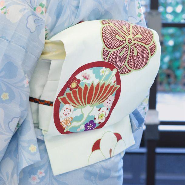 Modern Obi using antique style prints