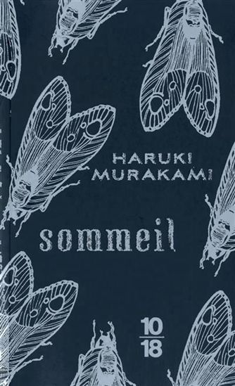 French version of Haruki Murakami's SLEEP, illustrated in navy and silver by Kat Menschik.