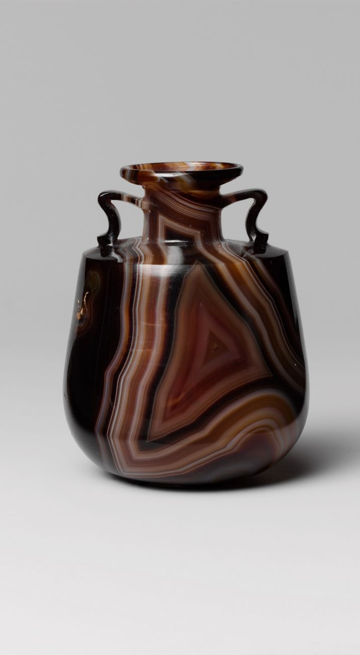 Banded agate amphoriskos (perfume bottle), late 1st century B.C.–early 1st century A.D. / Early Imperial, Augustan or early Julio-Claudian