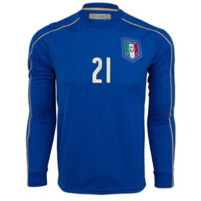 #3 Maldini Home Match Long Sleeve Soccer Adult Jersey EURO 2016