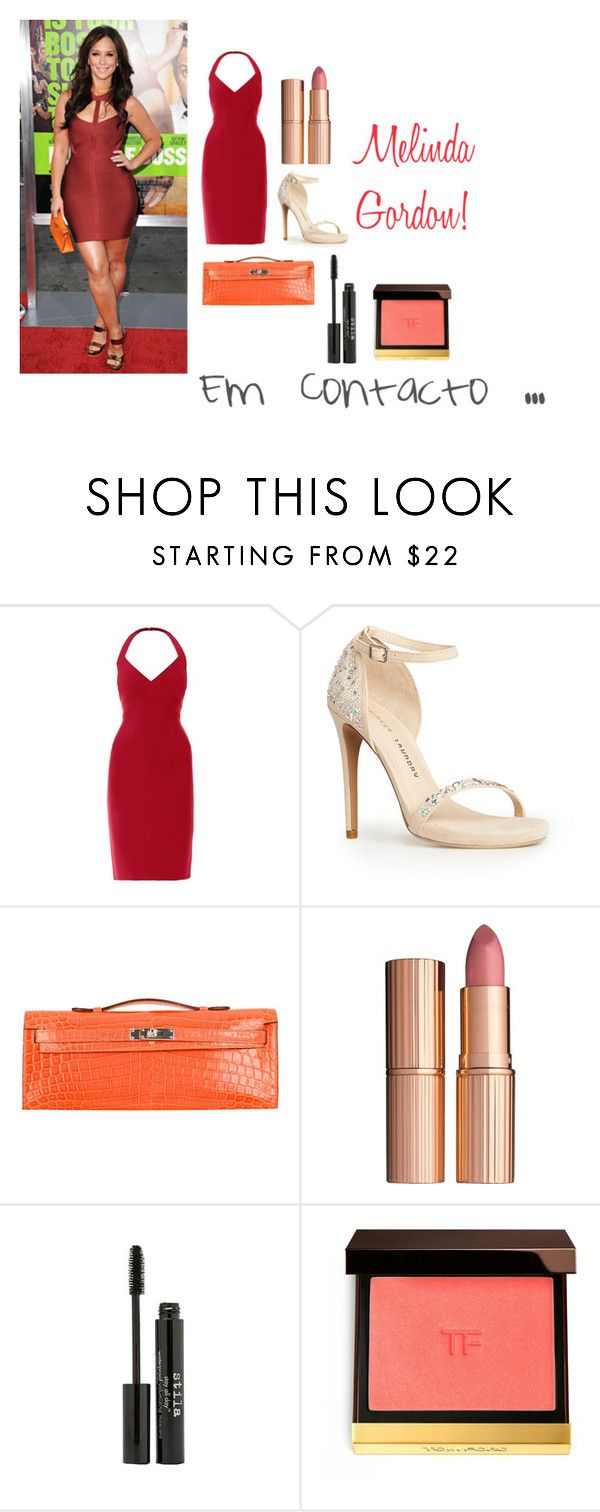 """Melinda Gordon ( Da serie ""Em Contacto"")"" by petalas-de-rosa ❤ liked on Polyvore featuring Hervé L. Leroux, Chinese Laundry, Hermès, Charlotte Tilbury, Stila and Tom Ford"