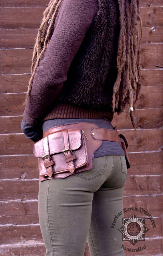 850f158a2241 HOLSTER Brown Leather Holster Belt 2 Pocket Holster Hip   Patterns ...