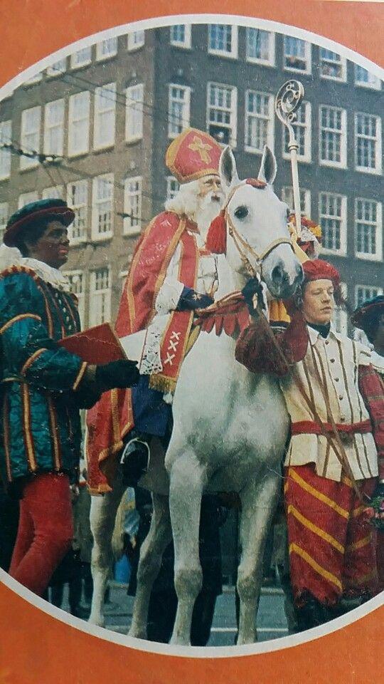 Sinterklaas op het paard, Hoofdpiet en paardenknecht  (Amsterdam 1975)