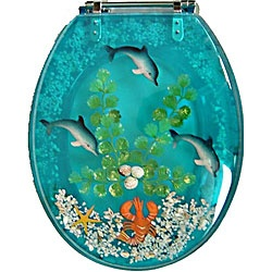 @Overstock - The bathroom takes on a whimsical vibe when you add this poly-resin toilet seat to your decor. This pretty blue toilet seat features an underwater dolphin scene that is sure to make your time in the bathroom a bit more lighthearted and cheery.http://www.overstock.com/Home-Garden/Decorative-Polyresin-Toilet-Seat-with-Dolphins-and-Lobster/3450318/product.html?CID=214117 $39.49