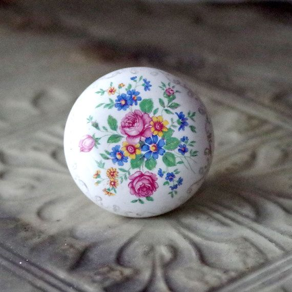 porcelain door knobs floral 2