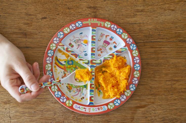 Peace & love plate.  make food not war!