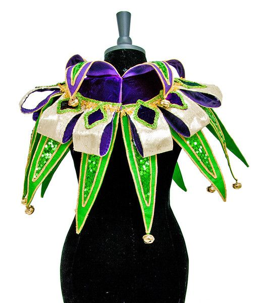 Katherine's Collection Mardi Gras Spring Collection Mardi Gras Elaborate Collar  One Size Fits All Free Ship
