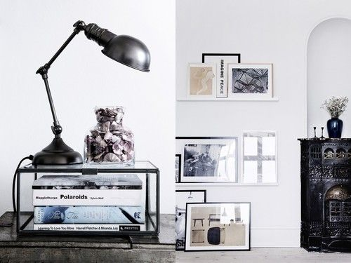 Idea: glass box with lamp on top for desk or side table