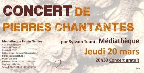 Concert de pierres chantantes. Le jeudi 20 mars 2014 à saint-amour.