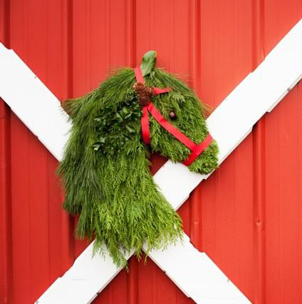 Horse Head Wreath! Ready to ship November 25th - Limited Quantities! Get yours today :) #HolidayWreath