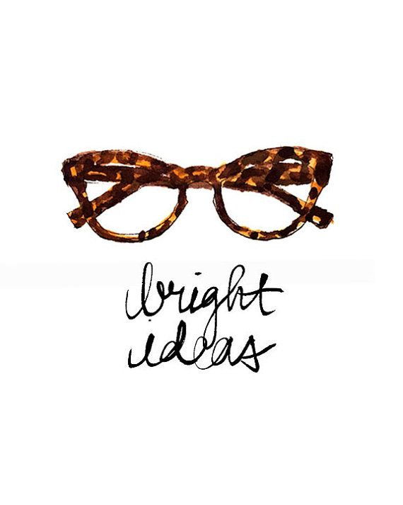 Art Print: Bright Ideas Glasses Print