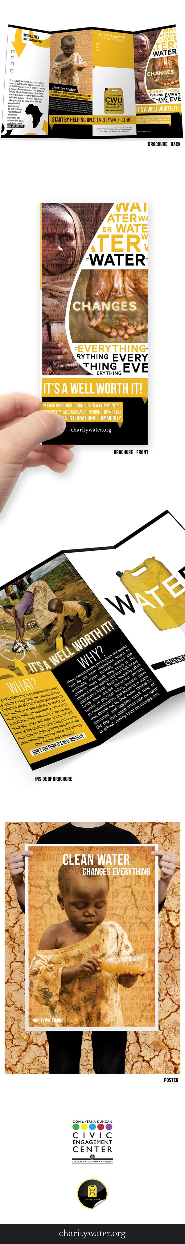 Charity Water : Fundraising Brochure & Poster on Behance